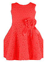 Girl's Casual/Daily Jacquard DressCotton Summer Pink / Red / White
