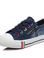 Unisex-Sneaker-Outddor-Gummi-Flacher AbsatzBlau Weiß