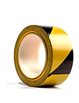 Two Yellow And Black 6Cm Pvc Warning Tapes Per Pack