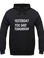 Men's Letter Casual / Sport HoodieCotton Long Sleeve Black / Blue / Red / Yellow / Gray