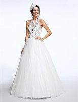 Lanting Bride® A-line Wedding Dress Court Train Jewel Tulle with Beading