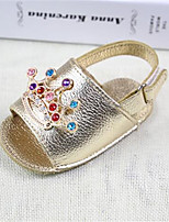 Girl's Sandals Spring / Summer / Fall Sandals PU Outdoor / Casual Flat Heel Bowknot Gold Walking