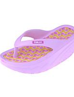 Damen-Slippers & Flip-Flops-Lässig-PVC-Blockabsatz-Komfort-Schwarz / Blau / Gelb / Rosa / Weiß