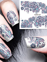 Blooming Flower Nail Art Water Decals Transfer Nail Stickers Nail Art Decoration BORN PRETTY
