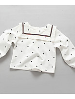 Girl's Casual/Daily Polka Dot BlouseCotton Spring / Fall White