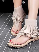 Fall Comfort Customized Materials Outdoor Flat Heel Tassel Black / Green / Beige Others