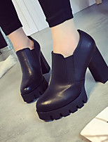 Women's Heels Spring / Fall Heels Rubber Chunky Heel Others Black Others