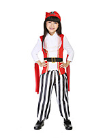 Costumes More Costumes Halloween / Children's Day Red / White / Black Patchwork Terylene Top / Pants
