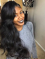 Big Body Wave Natural Color Brazilian Virgin Human Hair Glueless Lace Front Wig With Baby Hair