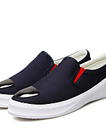 Men's Sneakers Spring / Fall Comfort PU Casual Flat Heel Slip-on Black / Blue / White Sneaker