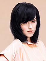 Charming High Quality Mediuim Straight Human Hair Wigs 14 Inches