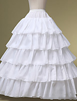 Slips Ball Gown Slip Tea-Length 5 Polyester White