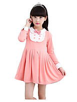 Girl's Casual/Daily Print DressCotton / Rayon Winter / Spring / Fall Blue / Pink / Red