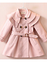 Girl's Going out Solid Dress / Overall & JumpsuitCotton Spring / Fall Pink