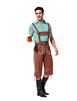 Costumes More Costumes Halloween / Oktoberfest Sky Blue / Fuschia Solid Terylene Top / Pants / More Accessories