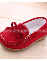 Unisex Flats Spring Summer Fall Moccasin PU Casual Flat Heel Braided Strap Blue Brown Yellow Red Others