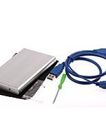 2,5 дюйма высокоскоростной интерфейс USB3.0 к ПК USB алюминиевый USB случайный цвет