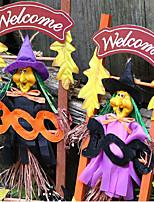 halloween rozvržení dekorace bytové textilie scéna rekvizity čarodějnice dekorativní dřevěný žebřík barvu náhodné 39 * 14 cm
