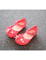 Черный / Красный-Для девочек-Для прогулок-Полиуретан-На плоской подошве-Сандалии-Сандалии