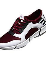 Herren-Sneaker-Sportlich-PU-Flacher Absatz-Komfort-Blau Rot Grau