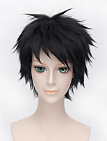 Fashion Short Curly Wig Black Color Synthetic Cosplay African American Wig