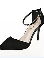 Women's Heels Spring / Summer / Fall Heels  Dress / Casual Stiletto Heel Hook & Loop Black / Purple Walking