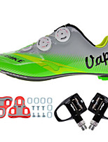 Cycling Shoes Unisex Outdoor / Road Bike 004 Sneakers Damping / Cushioning Black / Silver-sidebike And Black Lock Pedals