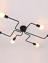 Wrought iron 6 heads Multiple rod Ceiling Dome lamp Creative Personality Retro  Living Room Dining Room Ceiling light