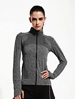 Running Sweatshirt / Tops Women's Long Sleeve Breathable / Quick Dry / Lightweight Materials Chinlon Yoga