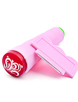 2PCS Pink Two-Use Nail Stamping Plate Stamper Scraper Nail Art Tools Manicure Set Kit