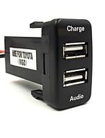2.1a usb chargeur spécial dédié voiture 5v prise d'interface et une entrée audio usb utilisation de socket pour toyota hilux vigo