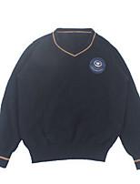 Girl's Print Sweater & CardiganCotton Winter / Fall Gray