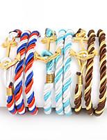 Beadia 1Pc Multilayer Warp Rope Cord Bracelet Anchor & Hook Bracelet