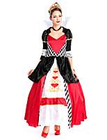Costumes Déguisements de princesse Halloween / Fête d'Octobre Rouge Mosaïque Térylène Robe / Châle / Couronnes / Plus d'accessoires