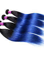 7A Malaysian Virgin Hair Straight Blue Weave Bundles 4Pcs Blue Ombre Malaysian Hair 2 tone Color Malaysian Straight Hair