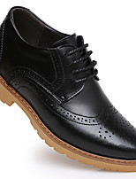 Men's Flats  Round Toe / Closed Toe / Flats Casual Flat Heel Lace-up Black / Brown Walking