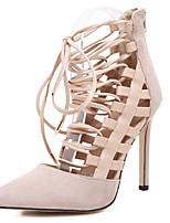 Women's Heels for Four Seasons Strappy 4.53 Inch High Heels Hollow out Lace up Pointe Toe Stiletto Sandals/Pumps