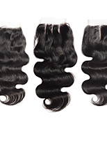 Braizlian Body Wave Closure Best Virgin Brazilian Lace Closure Bleached Knots closures Free/Middle/3Part Closure