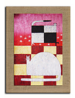 Oil Painting Modern Abstract Animal  Hand Painted Natural Linen With Stretched Frame