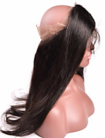 Brazilian Virgin Human Hair 360 Lace Band Frontal Closures Silk Straight Ear To Ear 360 Lace Frontal Closures With Baby Hair