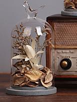 Цветы и растения Стекло / Дерево Модерн / Повседневная / Ретро / Офисный,Товары для дома В помещении Декоративные аксессуары