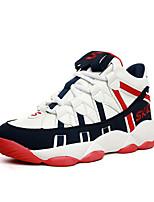 Women's Sneakers Spring / Fall Comfort Fabric Casual Flat Heel  Black / Red / White Sneaker