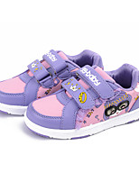 Girl's Sneakers Spring / Fall Comfort Fabric Casual Flat Heel Magic Tape Pink / Purple / Red Sneaker