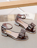 Girl's Sandals Summer PU Casual Low Heel Bowknot Silver Gold Others