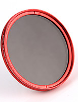 FOTGA® 49mm Camera Fader Variable ND Filter Neutral Density ND2 ND8 to ND400 Red