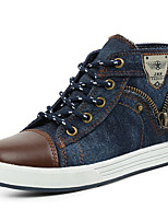 Boy's Sneakers Spring / Summer / Fall / Winter Comfort Canvas Casual Flat Heel Lace-up Navy Others