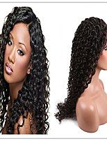 Brazilian Human Hair Natural Black Color Kinky Curly Full Lace Wig