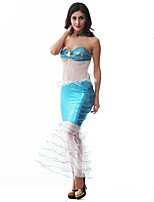 Costumes Movie & TV Theme Costumes Halloween Sky Blue Patchwork Terylene Dress / More Accessories
