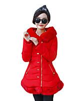 Women's Patchwork Slim Frivolous Plus Size Padded Coat,Street chic Hooded Long Sleeve