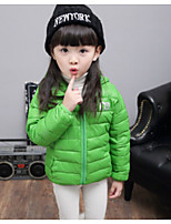 Girl's Casual/Daily Print Down & Cotton PaddedCotton Winter White